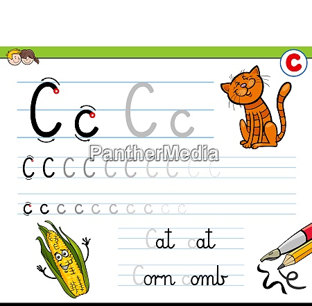 how to write letter c workbook