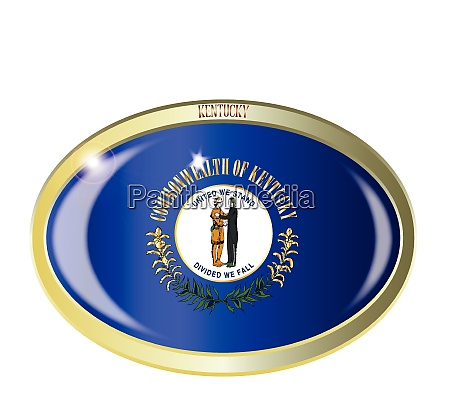 kentucky state flag oval button