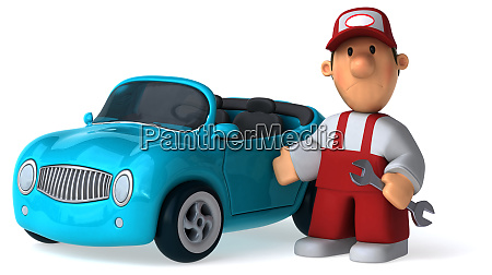 fun, mechanic, -, 3d, illustration - 25869284
