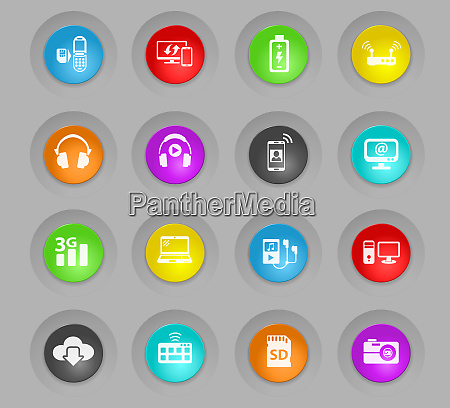 hi tech colored plastic round buttons