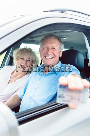 portrait of a happy senior man