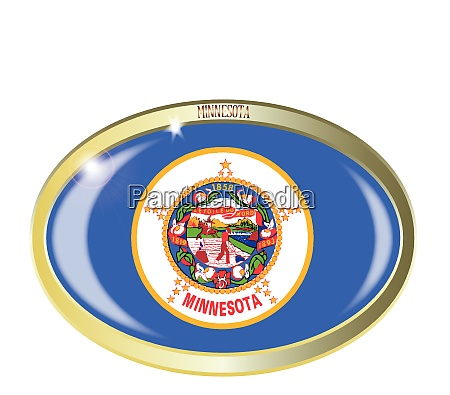 minnesota state flag oval button