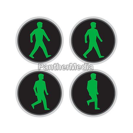 traffic light man walk cycle sequence