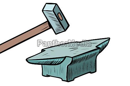 hammer and anvil blacksmith tool