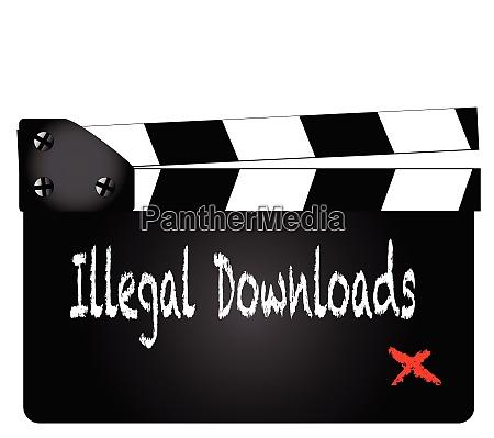 illegal downloads clapperboard