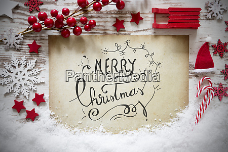 red decoration calligraphy text merry christmas