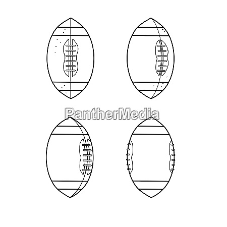 american football ball spinning sequence drawing
