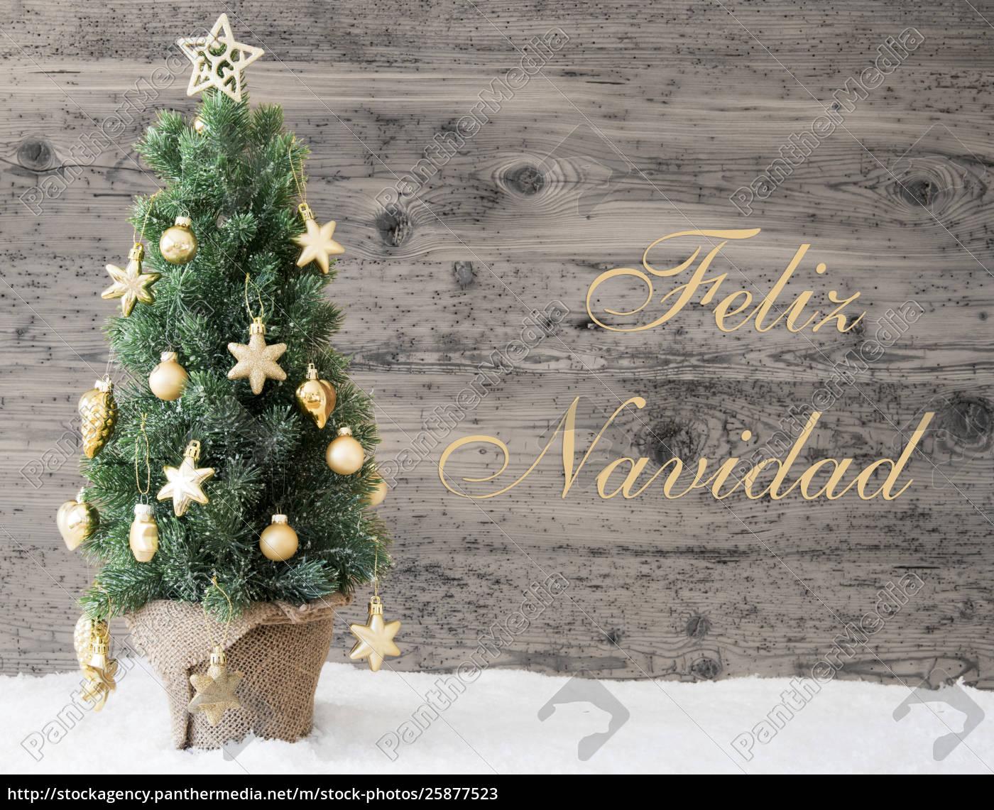 ~golden decorated tree  feliz navidad means 25877523 high