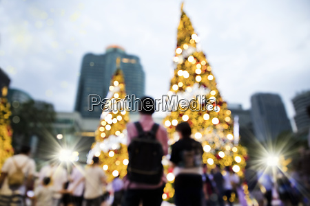 blurry background image of defocused group
