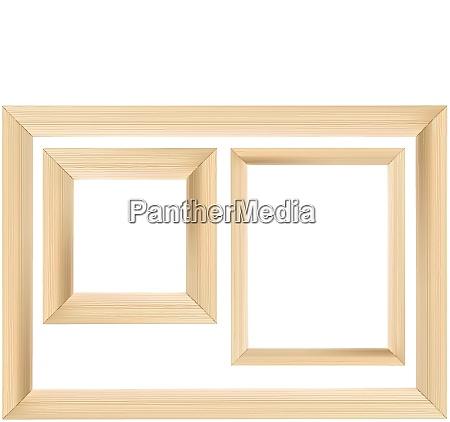 set of wooden frame