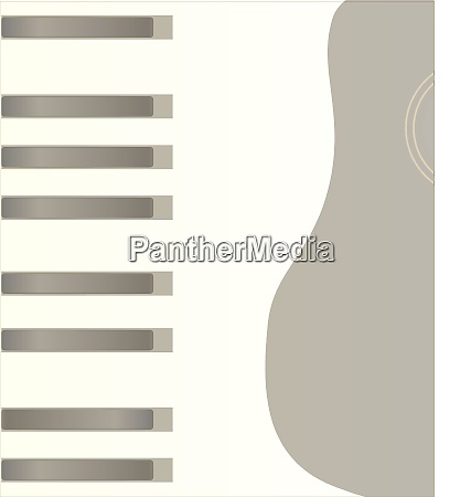 piano keys and guitar background