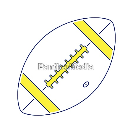 icon of american football ball
