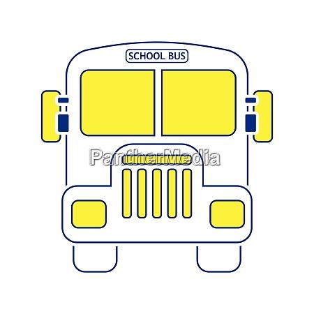 icon of school bus