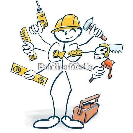 stick figures as craftsmen and multitasking