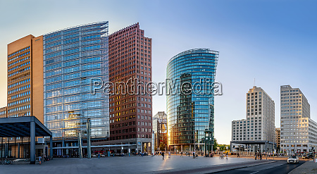 potsdamer platz at sunset berlin