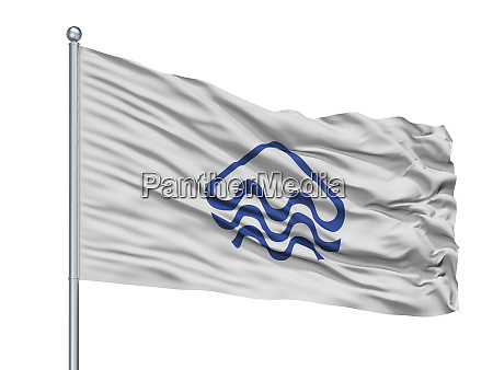 pucon city flag on flagpole chile