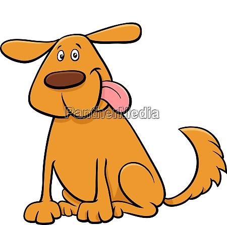 funny dog pet cartoon character