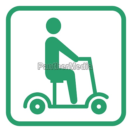 electric scooter pictogram