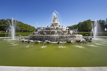 fountain herrenchiemsee castle in bavaria germany