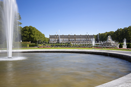herrenchiemsee castle in bavaria germany with