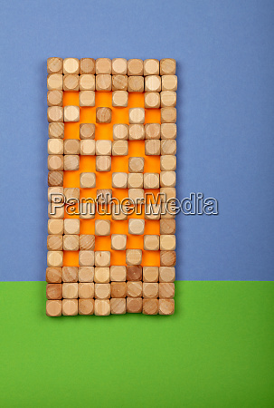 wooden toy building blocks in shape