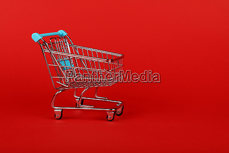 close up retail shopping cart on