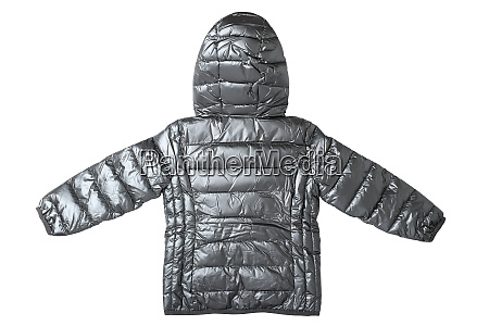 childrens jacket isolated fashionable silver gray
