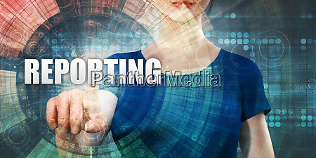 woman accessing reporting