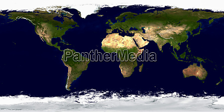 geographic map of planet earth
