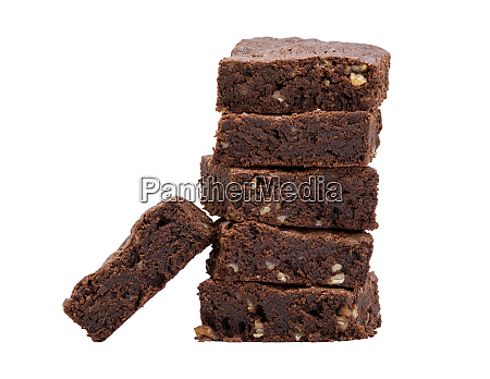 stack of baked square slices of