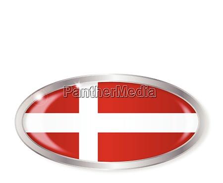 danish flag oval button