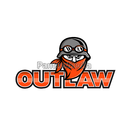 outlaw biker angry mascot