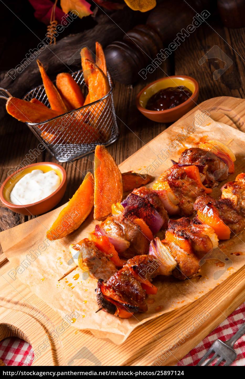 sweet, potato, fries, with, spicy, paprika - 25897124