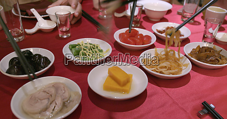 appetizer in taiwanese restaurant