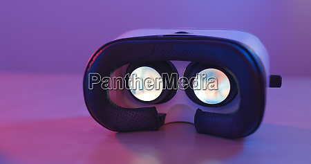 virtual reality device playing video inside