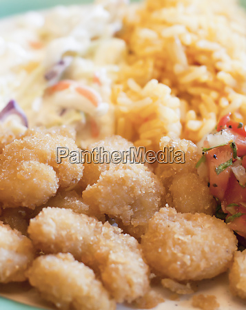 shrimp and vegetable meal