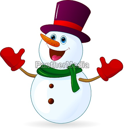 cute joyful snowman