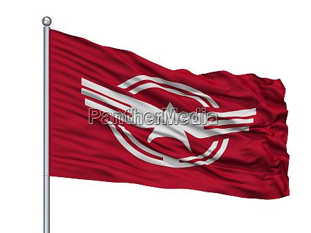 ena city flag on flagpole japan