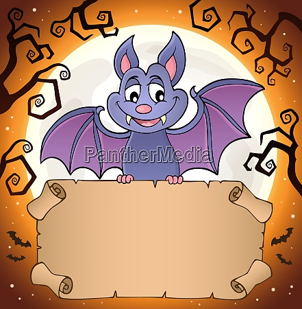 bat holding parchment image 2