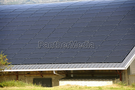 solar roof of a large curved