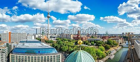 berlin city center seen from the