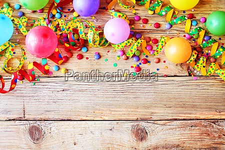 carnival or birthday background and party