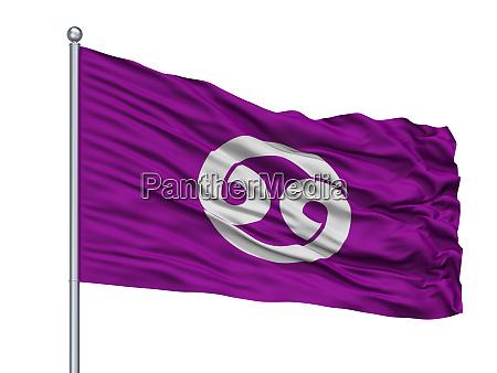 nonoichi city flag on flagpole japan