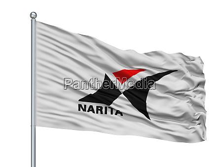 narita city flag on flagpole japan