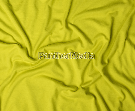 crumpled cotton olive fabric full frame