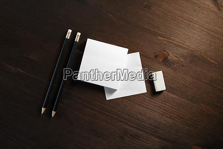 paper pencils eraser