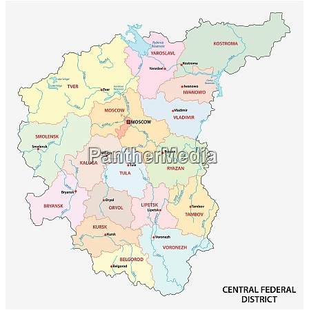central federal district administrative and political