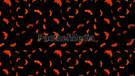 vector black flying bats silhouettes banner