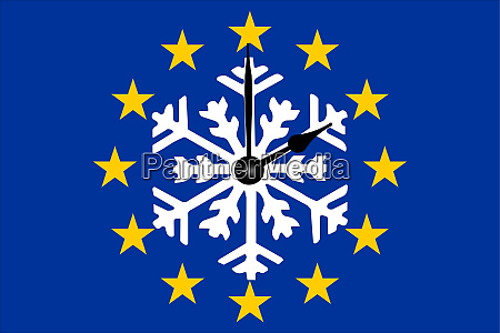 europe clock change european flag with