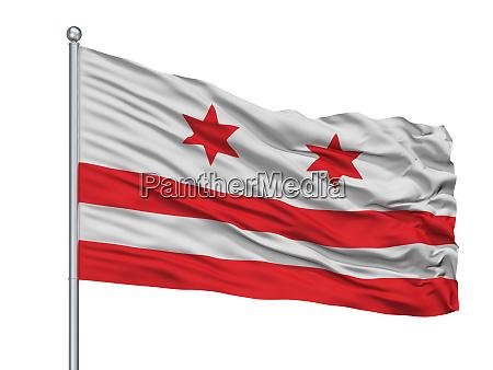valletta city flag on flagpole malta